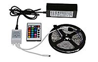 Светодиодная лента SMD 5050 300 LED RGB 5м с пультом и блоком питания (50-50)