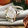 Серебряное кольцо с золотом Лира вставка белые фианиты вес 2.8 г размер 21, фото 3