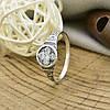 Серебряное кольцо Спаси и сохрани вставка белые фианиты вес 1.8 г размер 19.5, фото 3