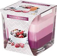Ароматическая трехцветная свеча в стекле BISPOL №SNK80-314 - Замороженные ягоды