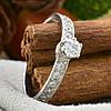 Серебряное кольцо Невеста вставка белые  фианиты вес 1.2 г размер 17, фото 4