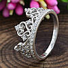 Серебряное кольцо Корона вставка белые фианиты вес 2.6 г размер 16, фото 2