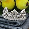 Серебряное кольцо Корона вставка белые фианиты вес 2.6 г размер 16, фото 3