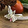 Серебряное кольцо Азалия вставка разноцветные фианиты вес 2.4 г размер 20, фото 3