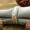 Серебряное кольцо с золотом Ника вставка белые фианиты вес 3.2 г размер 14.5, фото 2