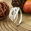 Серебряное кольцо с золотом Ольвия вставка белые фианиты вес 3.15 г размер 21.5, фото 4