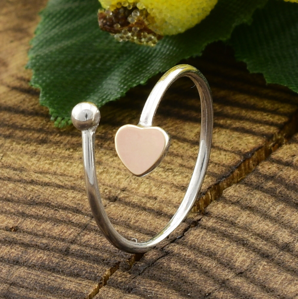 Серебряное кольцо с золотом 1386БС вес 0.5 г размер 13