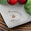 Серебряное кольцо с золотом 1386БС вес 0.5 г размер 13, фото 2