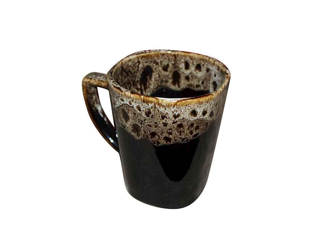 Чашка 280мл Квадратна пінка чорний (6шт. в уп.) ТМПОЛИГЕНЬКО