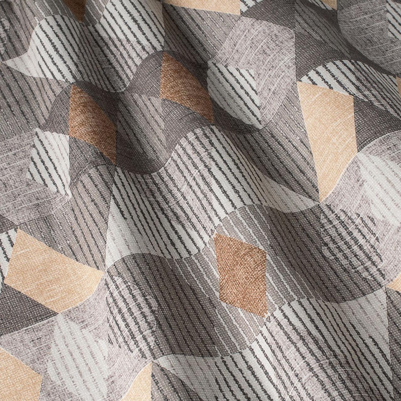 Декоративная ткань серые и желтые ромбы Испания 87889v1
