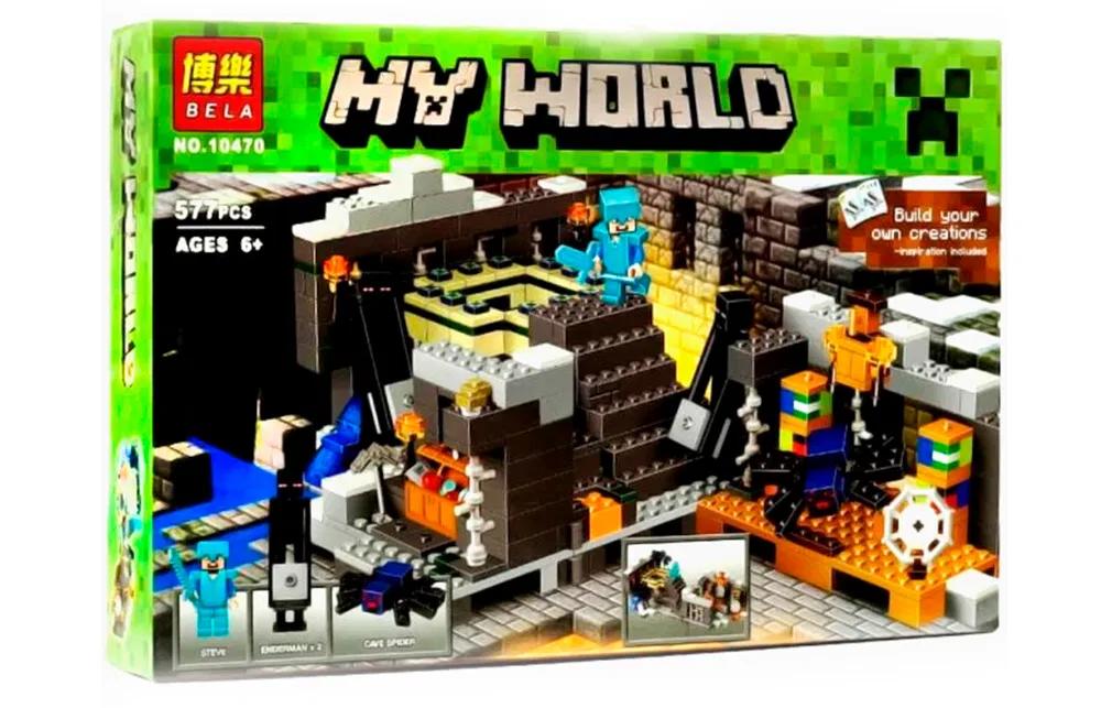 """Конструктор Bela """"Minecraft"""" (10470) Портал в Край, 571 деталь"""