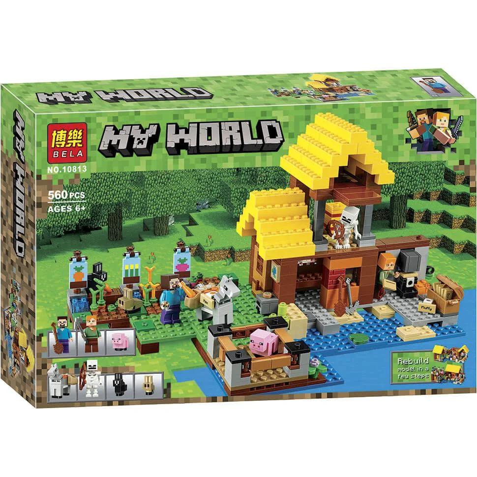 """Конструктор Bela """"Minecraft"""" (10813) Фермерский коттедж, 560 деталей"""