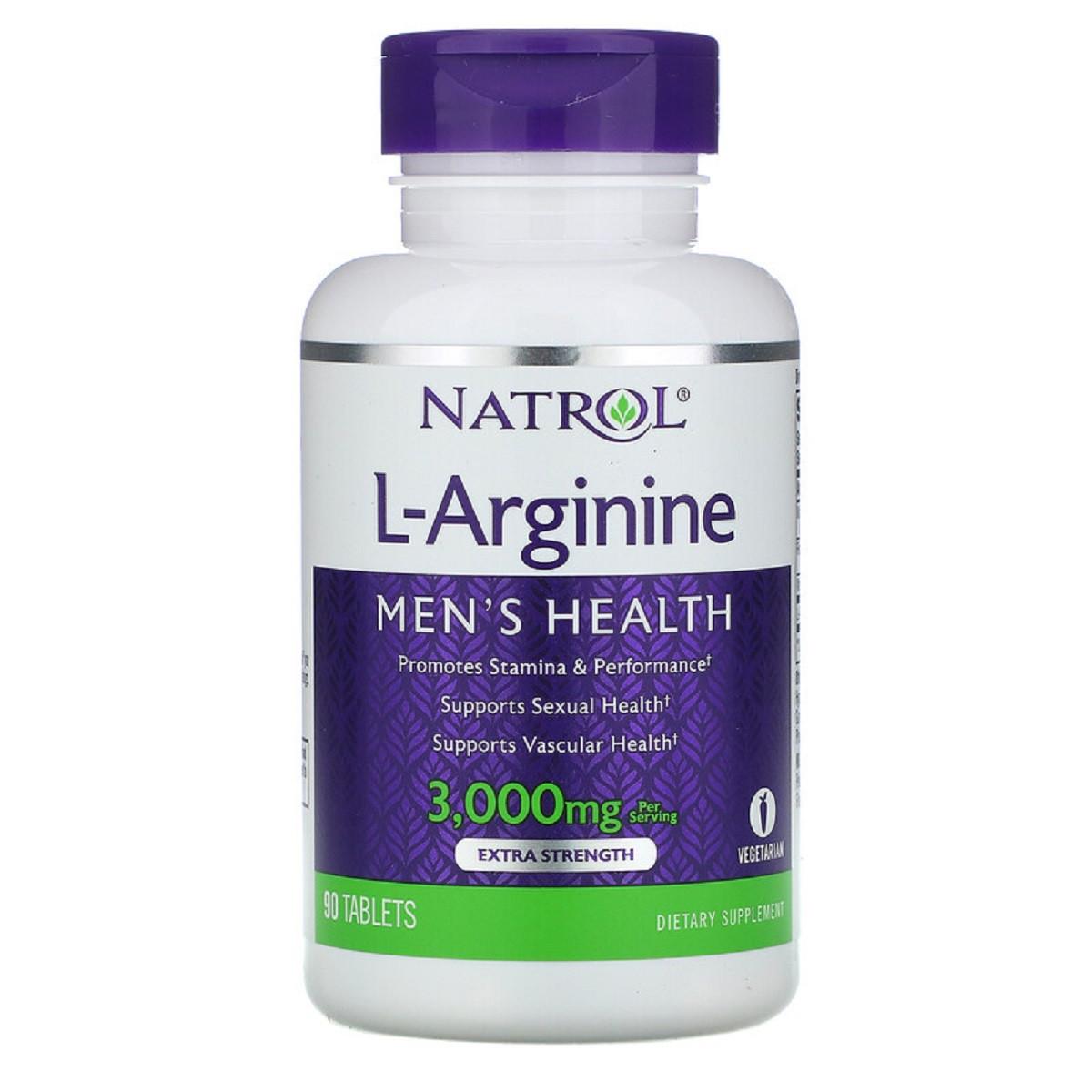 L-Аргинин 3000 мг, Natrol, 90 таблеток
