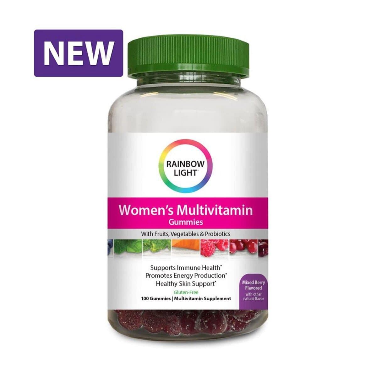 Мультивитамины для Поддержания Энергии для Женщин, New Women's Multivitamin Gummies, Rainbow Light, 100