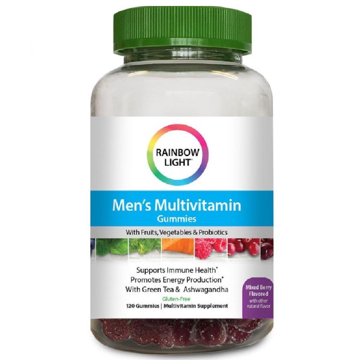 Мужские Мультивитамины, Поддержка Иммунитета, Rainbow Light, 100 жевательных таблеток