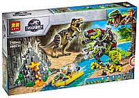 Конструктор BELA (Lary) 11337 ДИНОЗАВРЫ -  Бой тираннозавра и робота-динозавра (740 дет.), фото 1