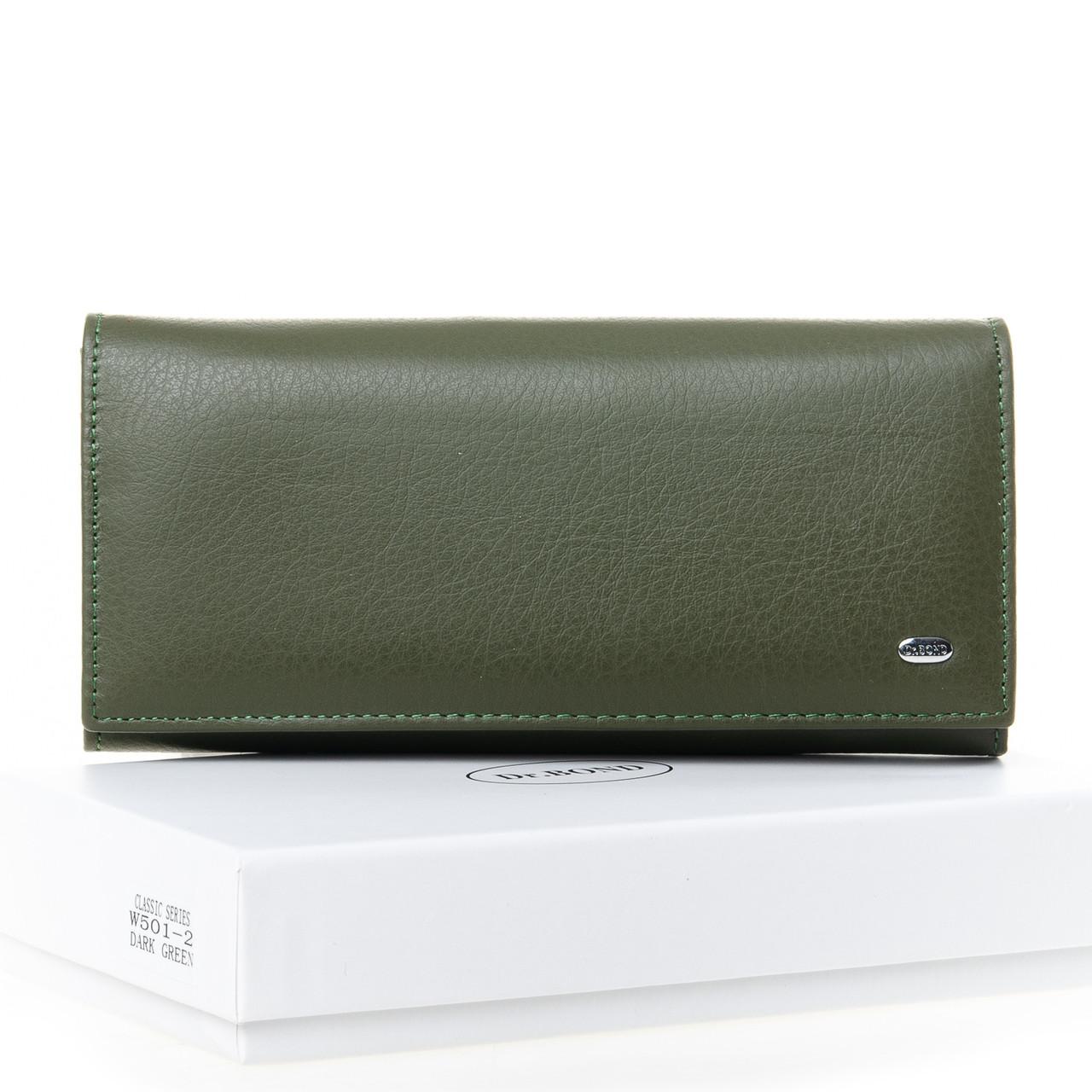Кошелек Classic кожа DR. BOND 18,5*9*3,5 (W501-2 dark-green)