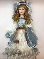 """Колекційна, фарфоровий, сувенірна лялька Porcelain doll """"Лілія"""" 50 см (1303-01 A)"""