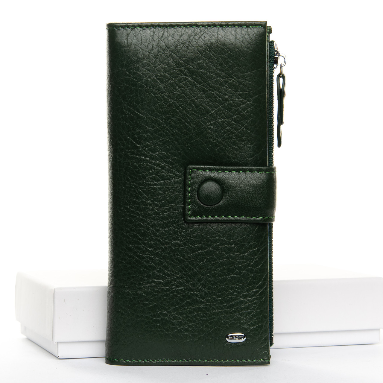 Кошелек Classic кожа DR. BOND 9,5*19*3 (WMB-1 dark-green)