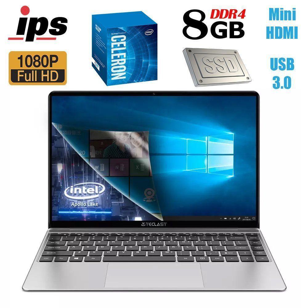 Teclast F7S / 14.1' (1920x1080) IPS / Intel Celeron N3350 (2 ядра по 1.1 - 2.4 GHz) / 8GB LPDDR4 / 128GB SSD /