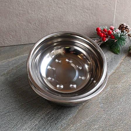 Миска металлическая 18 см из нержавеющей стали, фото 2