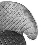 Крісло лаунж Keen (Кін) текстиль нафтової сірий Concepto (безкоштовна доставка), фото 4
