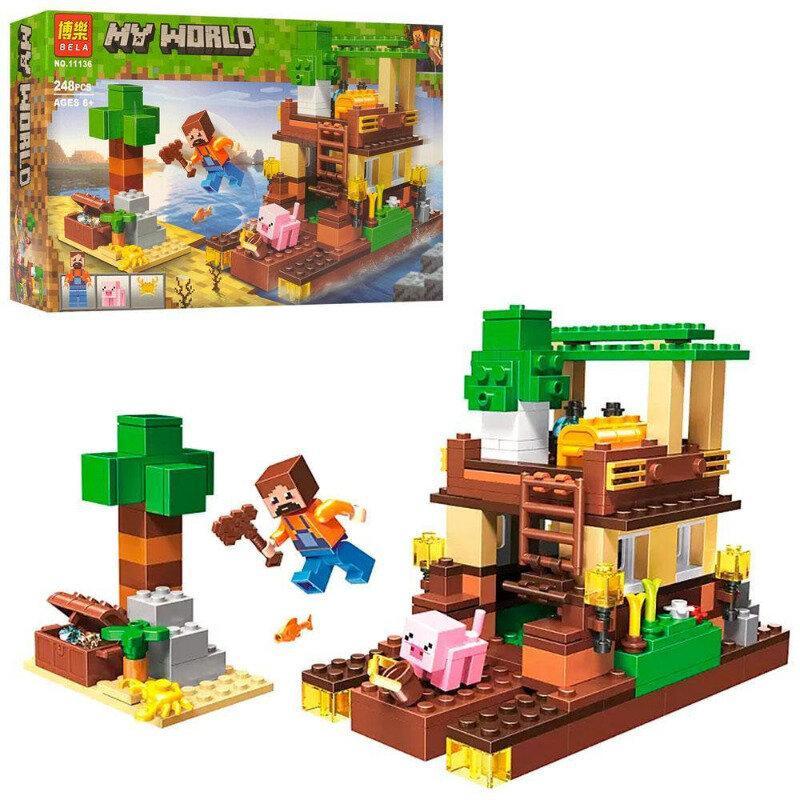 """Конструктор Bela """"Minecraft"""" (11136) Остров сокровищ, 248 деталей"""