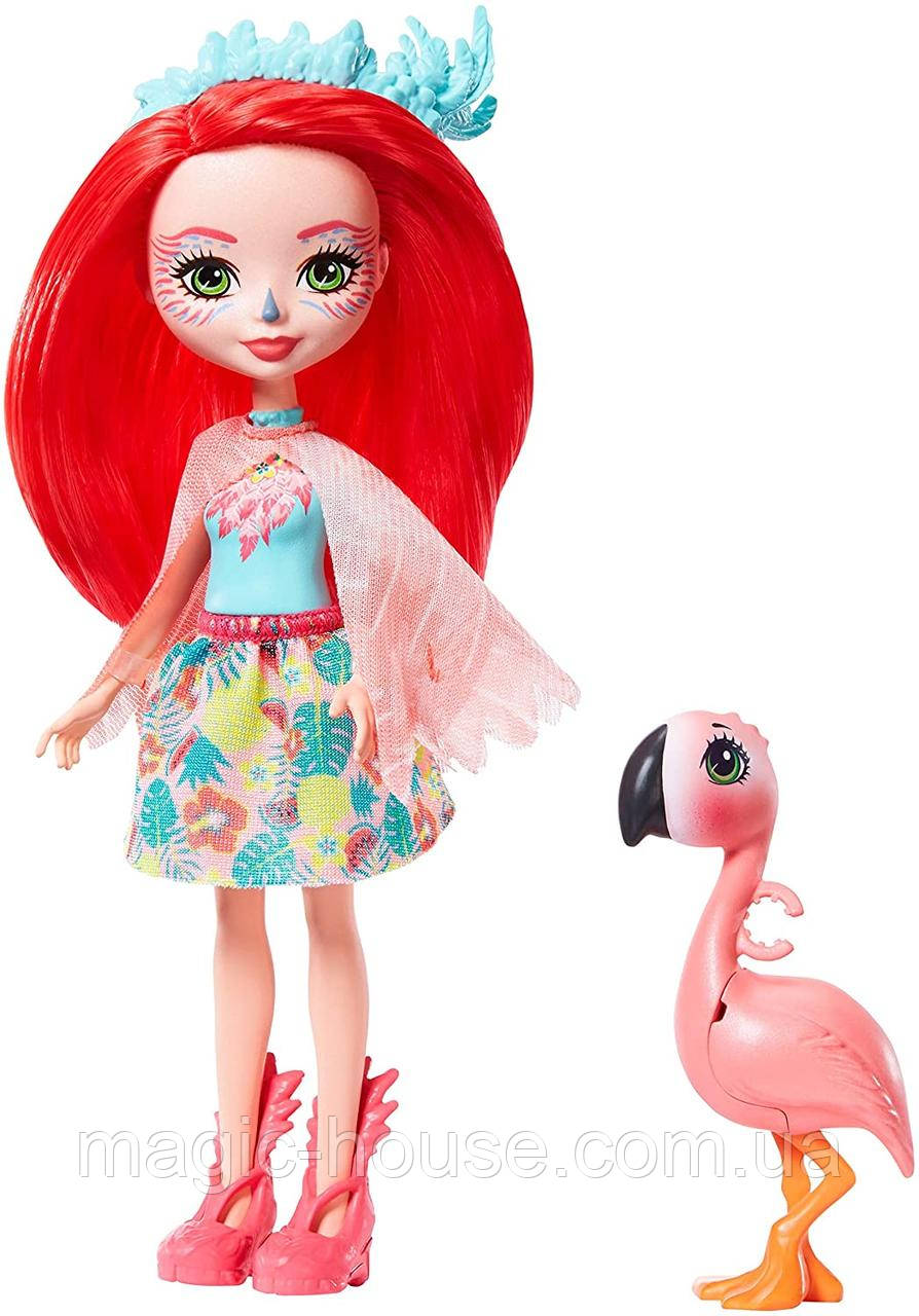 Кукла Энчантималс Фэнси Флэминг и Свош Enchantimals Fanci Flamingo and Swash Оригинал от Mattel 