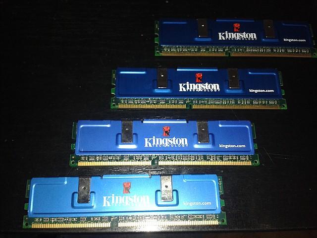Модуль памяти  Kingston HyperX, KHX3500/512, 2Gb (4x512mb), 434MHz, PC3500, для ПК