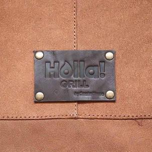 Фартук кожаный фирменный для мангала Holla Grill, фото 2