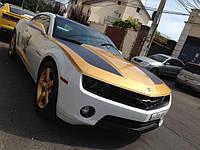 НАШИ РАБОТЫ: Chevrolett Camaro оклейка под HURST Camaro GOLD