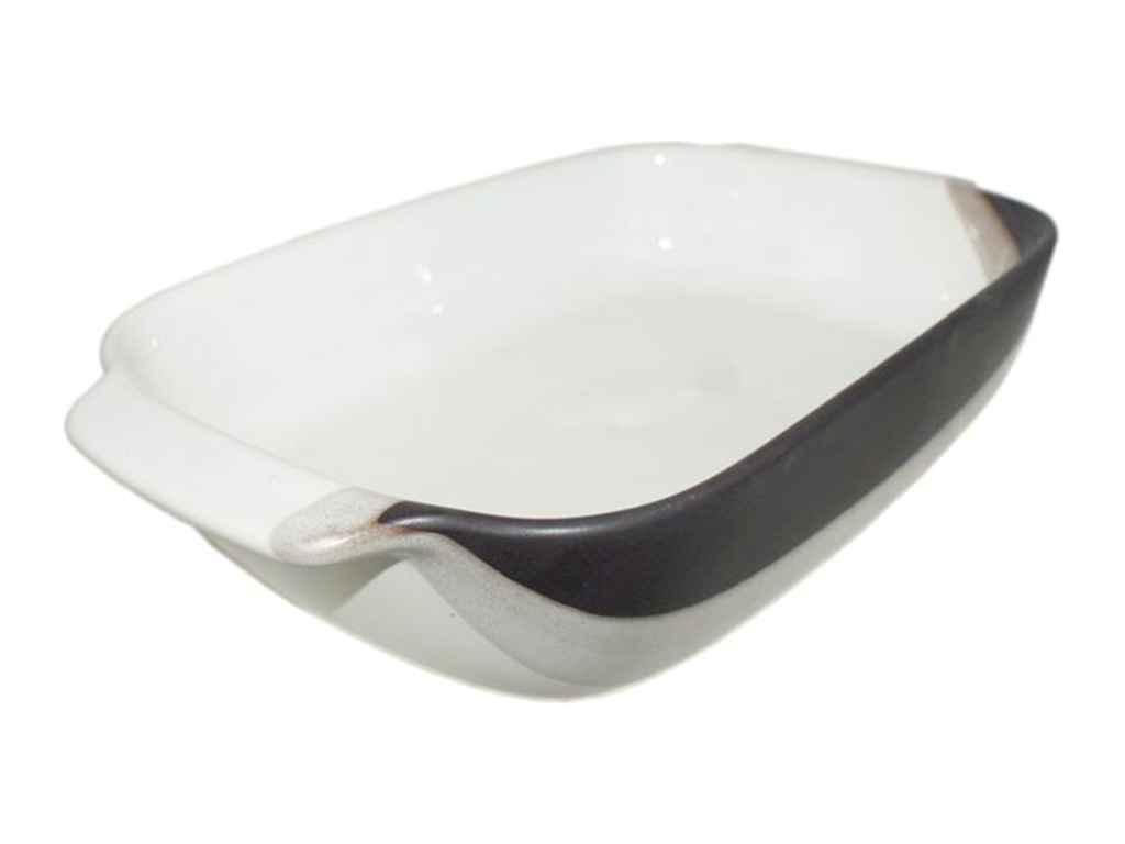 Форма керам. для запікання В 30х18,5х6,5см 1500мл крапля біло-чорний ТМПОЛИГ