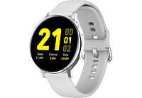 Смарт-часы Smart S20 White Bluetooth умные часы с пульсометром и шагомером
