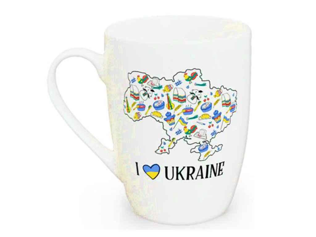 Чашка керамическая Kvarta I love Ukraine 360 мл (1743)