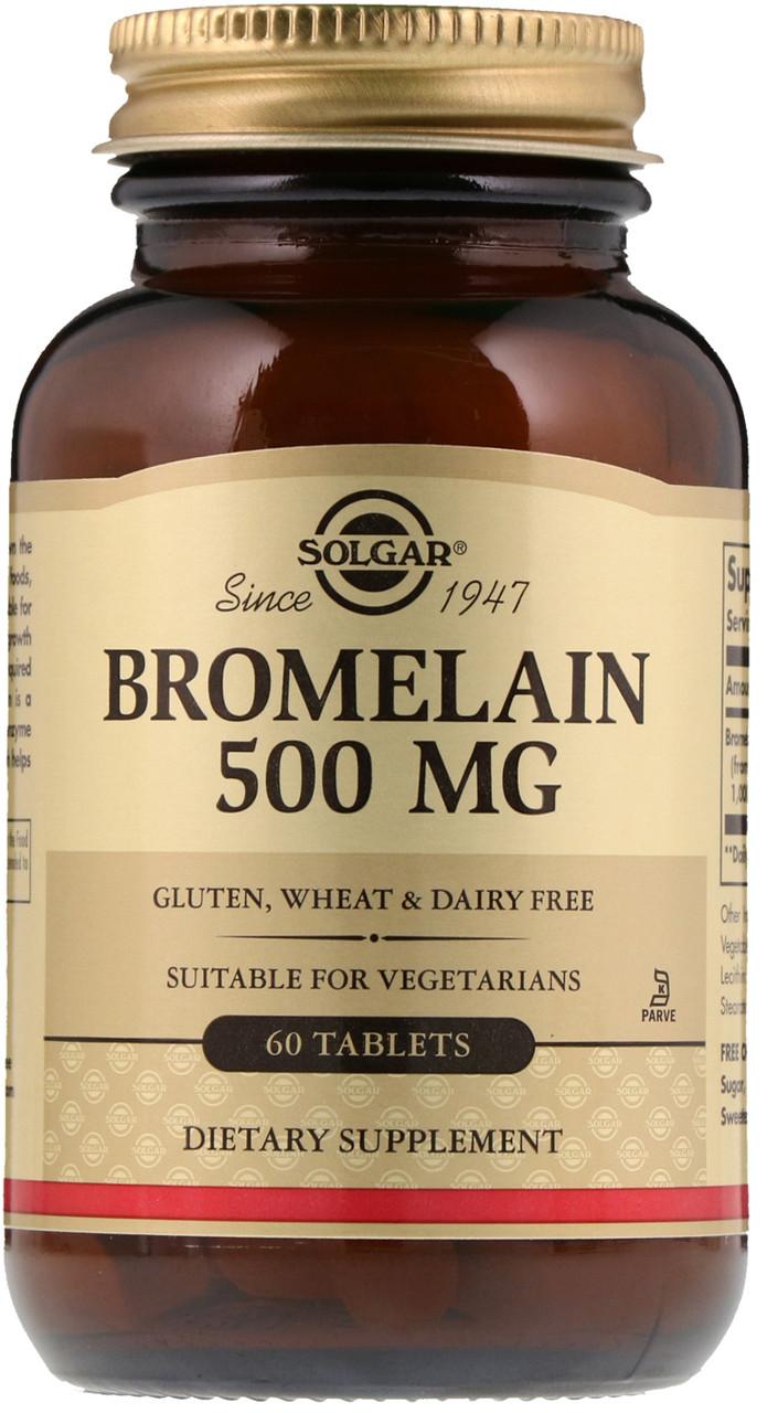 Solgar Бромелайн 500 мг таблетки №60