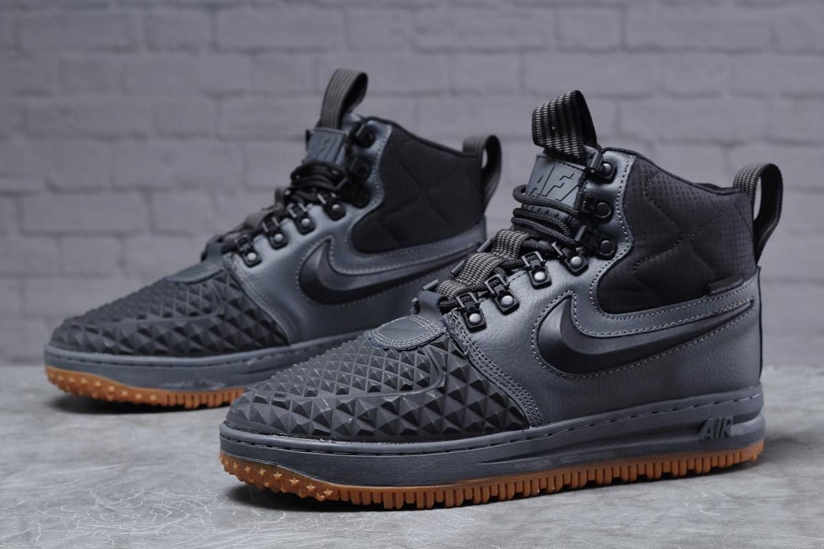 Зимние мужские ботинки 31851, Nike LF1 Duckboot (TOP AAA), темно-серые, [ нет в наличии ] р. 41-26,4см.