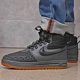 Зимние мужские ботинки 31851, Nike LF1 Duckboot (TOP AAA), темно-серые, [ нет в наличии ] р. 41-26,4см., фото 9
