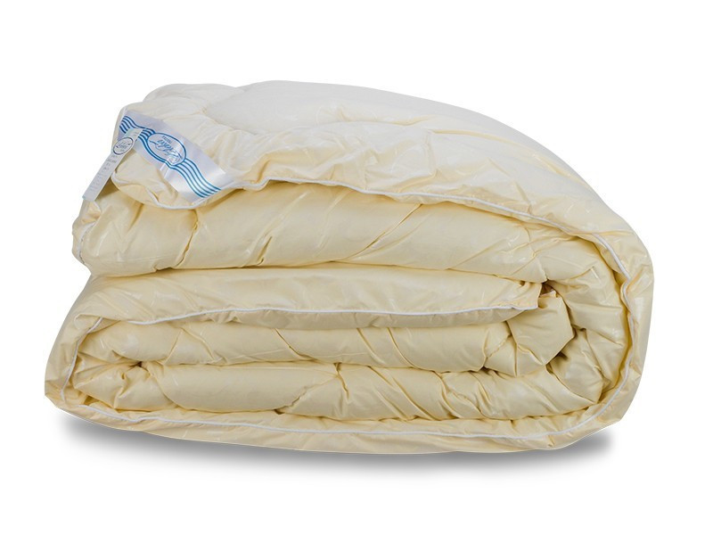 Одеяло Лебяжий Пух Leleka-Textile Двуспальный 172х205 Желтый Вензель SKL53-276673