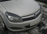 Реснички Opel Astra H, накладки на фары Опель Астра Н
