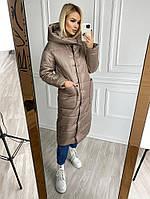 Женская зимняя куртка-пальто силикон 200 новинка 2020, фото 1