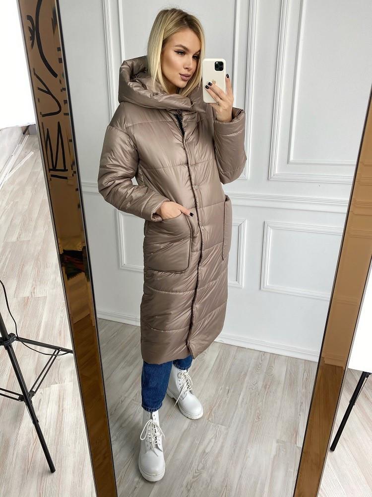 Женская зимняя куртка-пальто силикон 200 новинка 2020