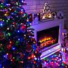 Новогодняя гирлянда 1000 LED, 65 м Белый теплый цвет с холодной белой вспышкой (flash), фото 6