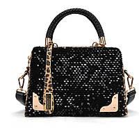Стильная Модная Классная женская сумка, черная +леопард