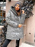 Женская двухсторонняя куртка зефирка с ревлективной плащевкой, фото 1