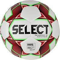 Мяч футбольный SELECT NUMERO 10 ADVANCE IMS кр/бел размер 5