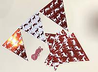 """Гірлянда декор """"Прапорці Новорічні"""", червоні, мікс, Гирлянда """"Флажки Новогодние"""", фото 2"""