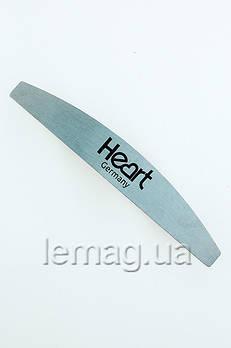 HEART Металлическая основа для пилочки полумесяц Half Metal Steel, 1 шт.