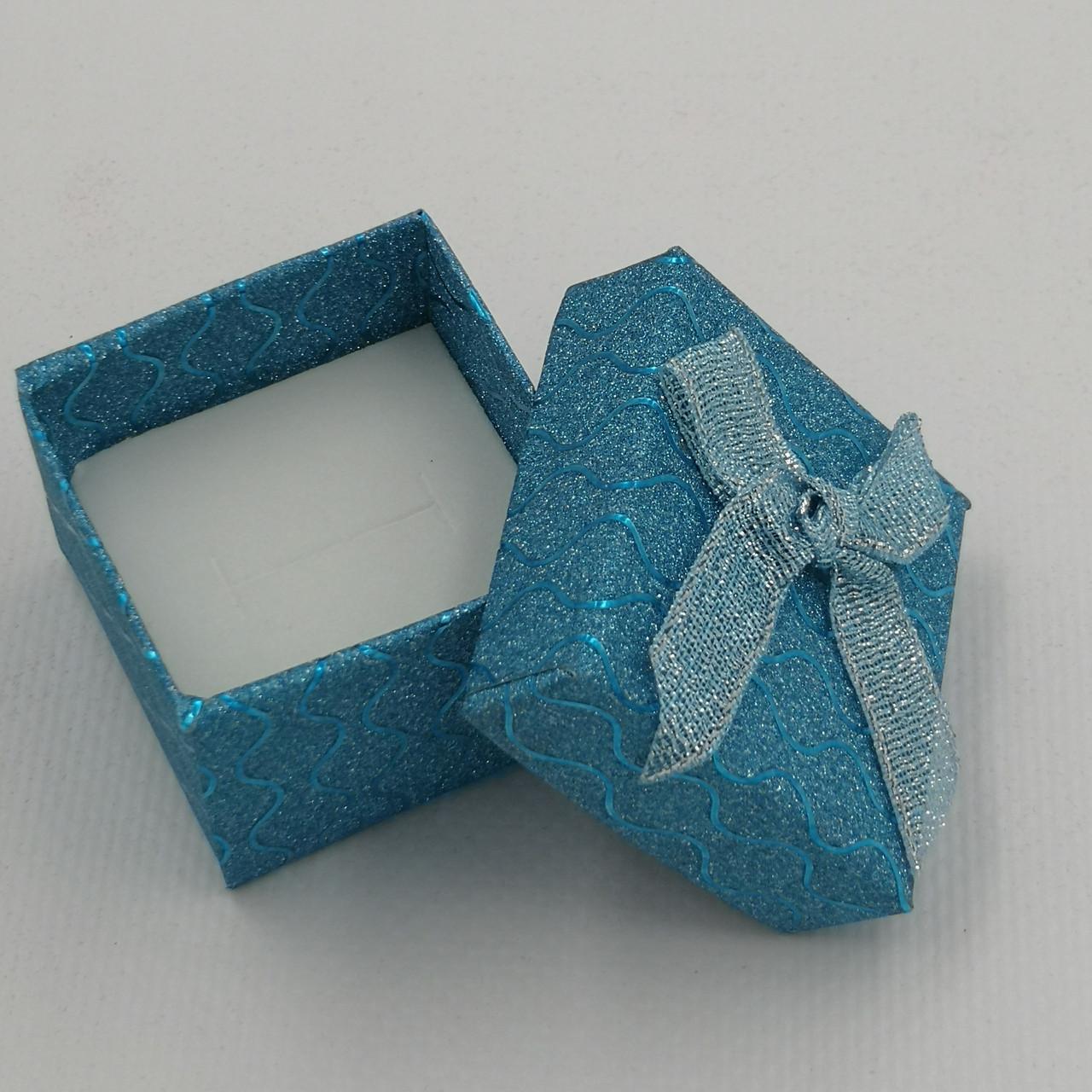 Коробочка для кольца-серег 741208 бирюза, размер 4*5 см