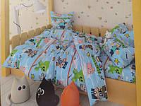 Полуторный детский комплект постельного белья сатин Minecraft