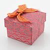 Коробочка для кольца-серег 741208 красная, размер 4*5 см, фото 2